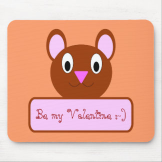 teddy Valentine Mouse Pad