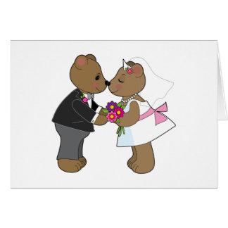 Teddy Wedding Card