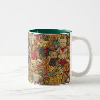 teddybear christmas Two-Tone coffee mug