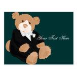 Teddybear Groom Postcard