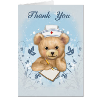Teddybear Nurse Thank You Card