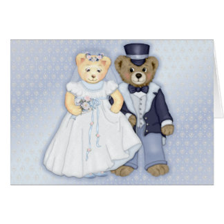 Teddybear Wedding Card