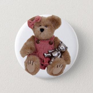 TeddyBearsHug100409 6 Cm Round Badge