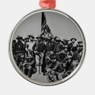 Teddy's Colts Teddy Roosevelt Rough Riders 1898 Silver-Colored Round Decoration