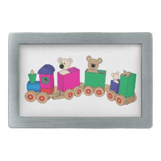 Teddy's Train Ride. Belt Buckles