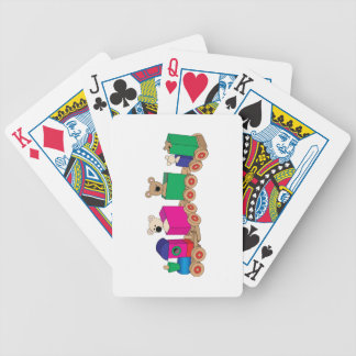 Teddy's Train Ride. Bicycle Playing Cards