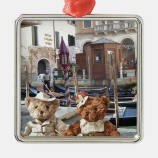 Teds in Venice Christmas Ornament