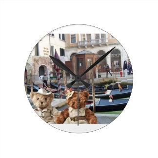 Teds in Venice Round Clock
