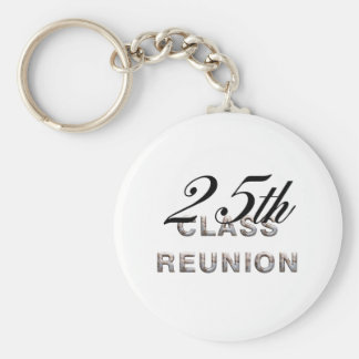 TEE 25th Class Reunion Basic Round Button Key Ring