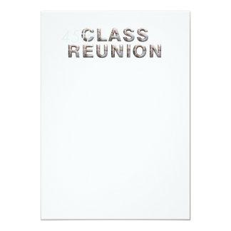 TEE 45th Class Reunion 13 Cm X 18 Cm Invitation Card