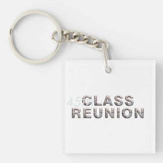 TEE 45th Class Reunion Double-Sided Square Acrylic Key Ring