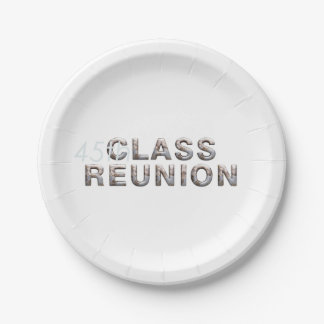 TEE 45th Class Reunion 7 Inch Paper Plate