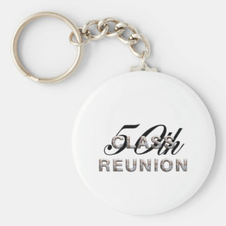 TEE 50th Class Reunion Basic Round Button Key Ring