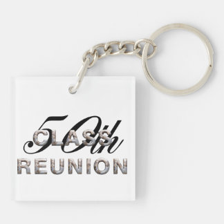 TEE 50th Class Reunion Double-Sided Square Acrylic Key Ring
