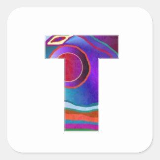 TEE ALPHA T Alphabet: Initial Name ID Identity TT Square Sticker