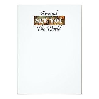 TEE Around the World 13 Cm X 18 Cm Invitation Card