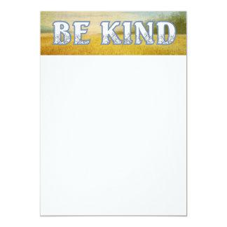 TEE Be Kind 13 Cm X 18 Cm Invitation Card