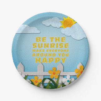 TEE Be the Sunrise 7 Inch Paper Plate