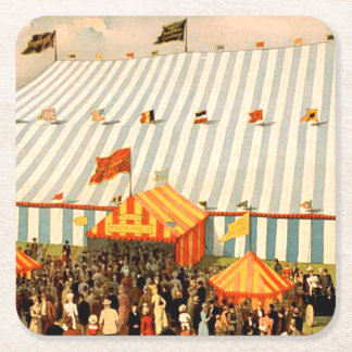 TEE Big Top Square Paper Coaster