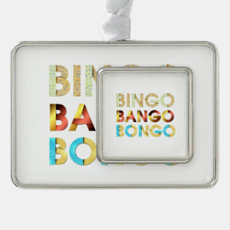 TEE Bingo Bango Bongo Silver Plated Framed Ornament