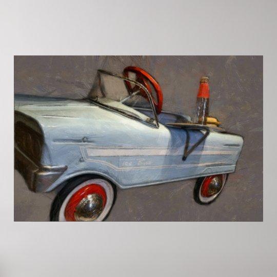 Tee Bird Pedal Car Poster