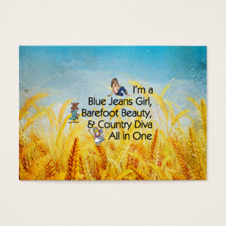 TEE Blue Jeans Girl Business Card
