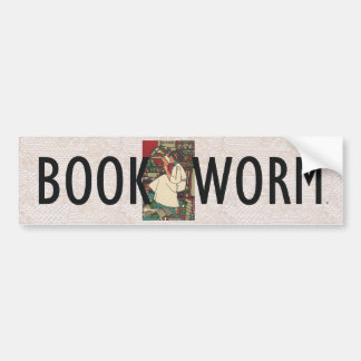TEE Book Worm Bumper Sticker