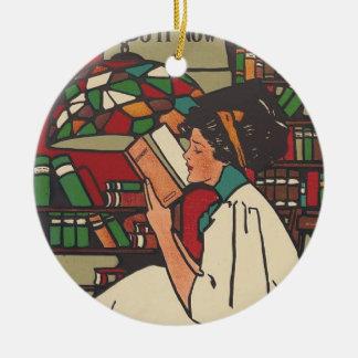 TEE Book Worm Christmas Ornament
