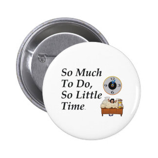 TEE Busy Time 6 Cm Round Badge