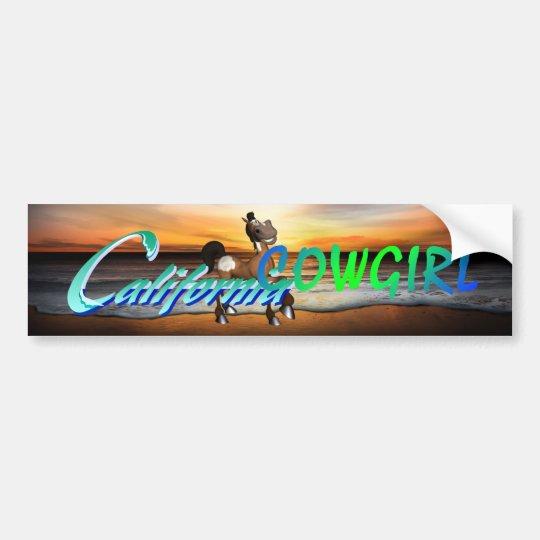 TEE California Cowgirl Bumper Sticker