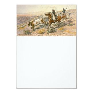 TEE Cattle Drive 13 Cm X 18 Cm Invitation Card