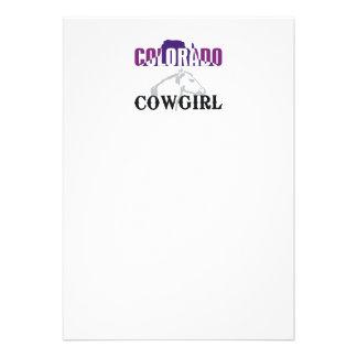 TEE Colorado Cowgirl Custom Invitations