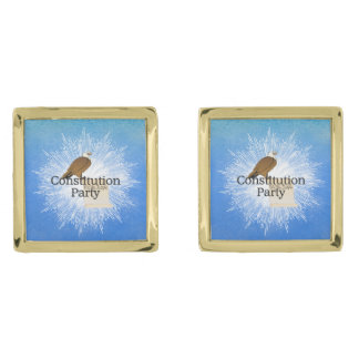 TEE Constitution Party 2016 Gold Finish Cuff Links