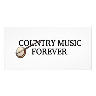 TEE Country Music Forever Personalized Photo Card