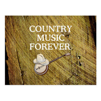 TEE Country Music Forever Postcard