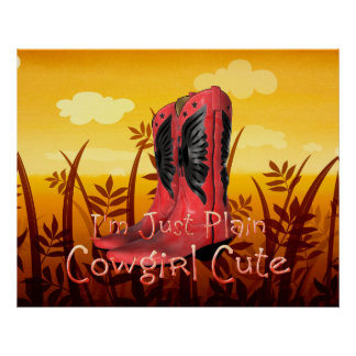TEE Cowgirl Cute Poster