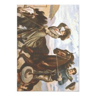 TEE Cowgirl Old School 13 Cm X 18 Cm Invitation Card