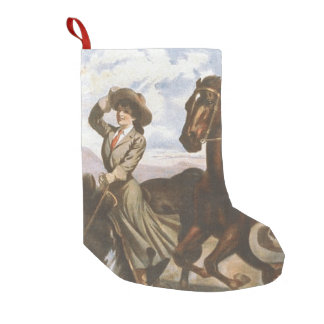 TEE Cowgirl Old School Small Christmas Stocking