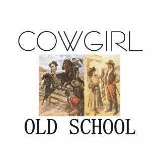 TEE Cowgirl Old School Standing Photo Sculpture