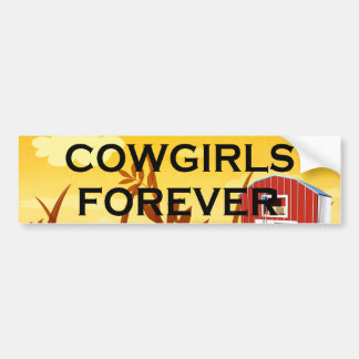 TEE Cowgirls Forever Bumper Sticker