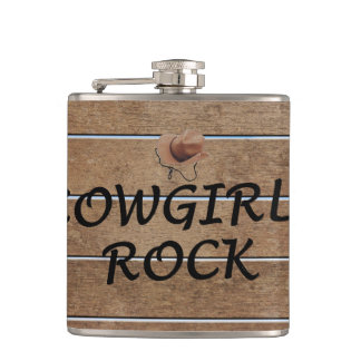 TEE Cowgirls Rock Hip Flask