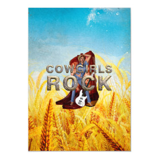 TEE Cowgirls Rock Magnetic Invitations