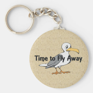 TEE Fly Away Basic Round Button Key Ring