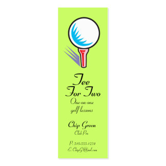 Tee For Two_Golf Instructor Pack Of Skinny Business Cards