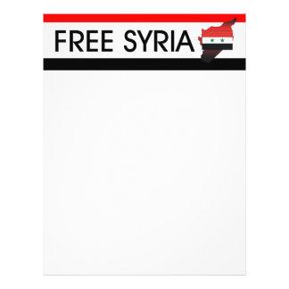 TEE Free Syria 21.5 Cm X 28 Cm Flyer