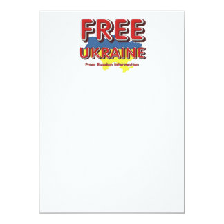TEE Free Ukraine 13 Cm X 18 Cm Invitation Card