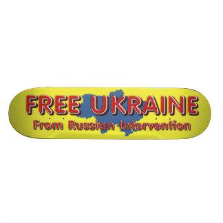 TEE Free Ukraine Custom Skateboard
