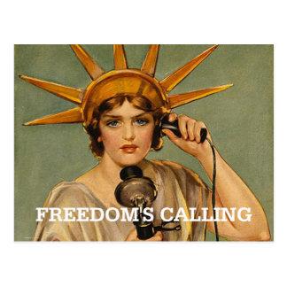 TEE Freedom s Calling Postcard