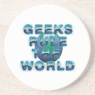 TEE Geeks Rule the World Sandstone Coaster