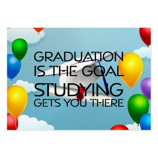 TEE Graduation Goal Business Card Template